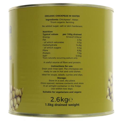 Chickpeas - organic 2.6KG