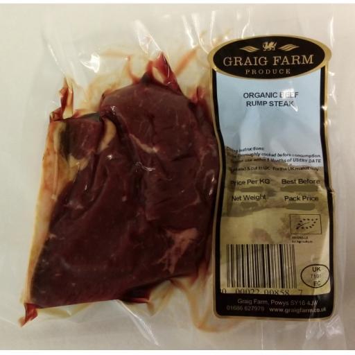 Organic Rump Steak 248 Approx.