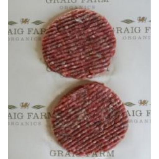 Organic Beef Burgers 238 Approx.
