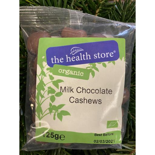 Milk Chocolate Cashews - 125g