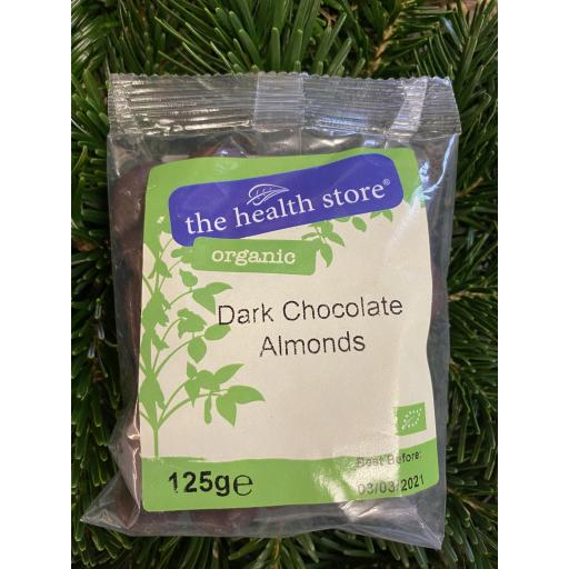 Dark Chocolate Almonds - 125g