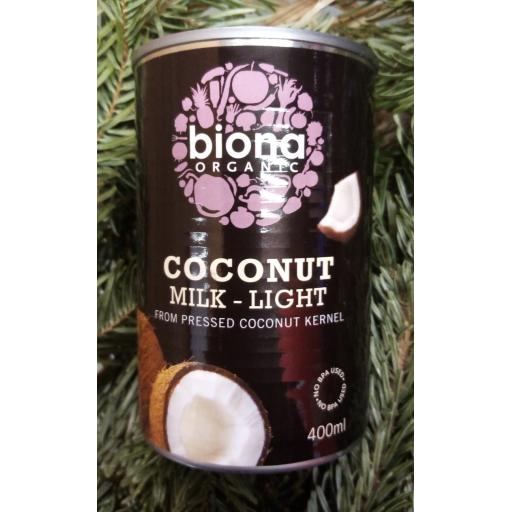 Coconut Milk Light Organic 400ML