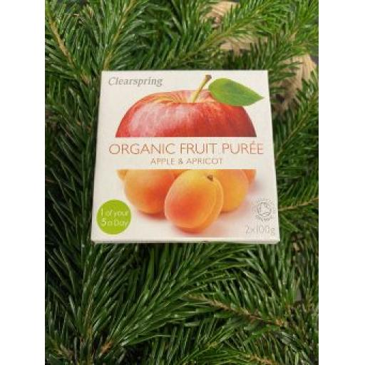 Clearspring Apple and Apricot Puree 2X100G