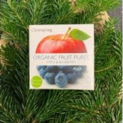 Clearspring Apple and Blueberry Puree 2X100G