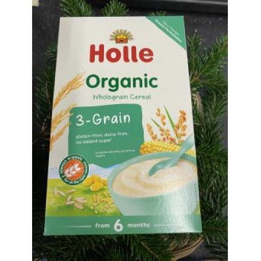 Hollie Organic 3-Grain Baby Cereals 250g