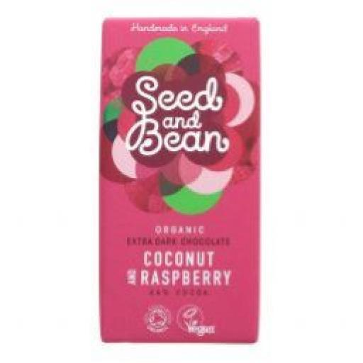 Seed and Bean Organic Vegan Coconut and Raspberry 85g