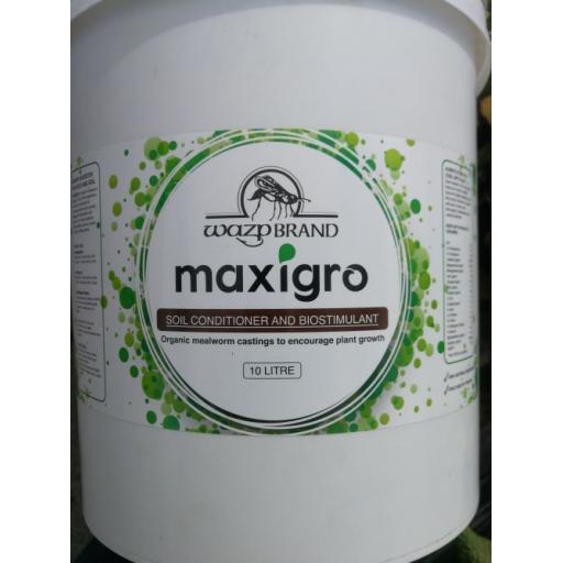 WazpBrand Maxigro Organic Soil Conditioner & Biostimulant - 10ltr