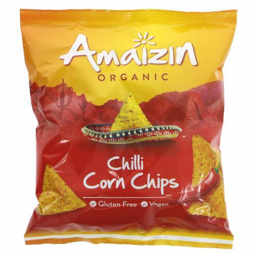 Organic Chilli corn chips - 75G