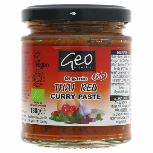 Organic Thai Red Curry Paste -180G