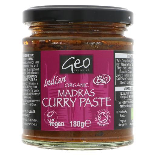 Organic Madras Curry Paste - 180G