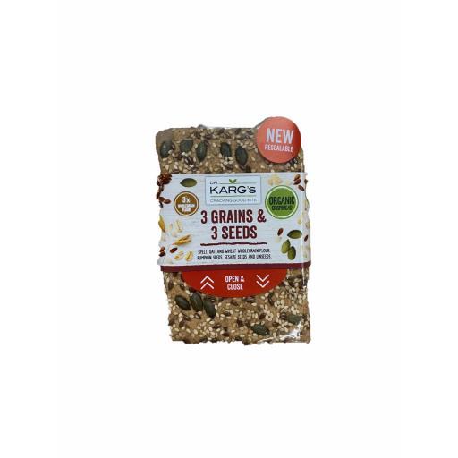 Organic 3 Grain Seed Crispbread - 200G
