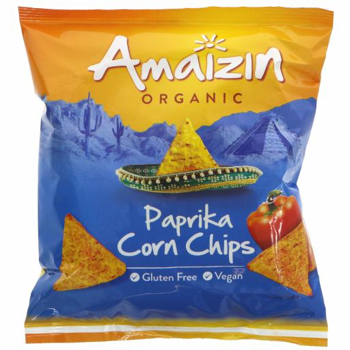 Organic Paprika Corn Chips - 75G