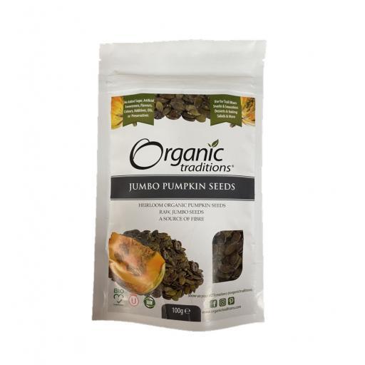 Organic Jumbo Pumpkin Seeds - 100G