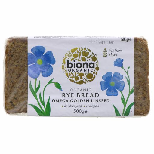 Organic Rye Bread Omega Golden Linseed - 500G