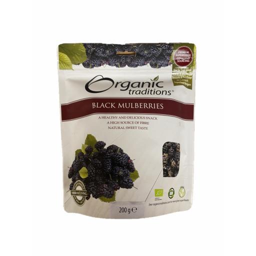 Organic Dried Black Mulberries - 200G