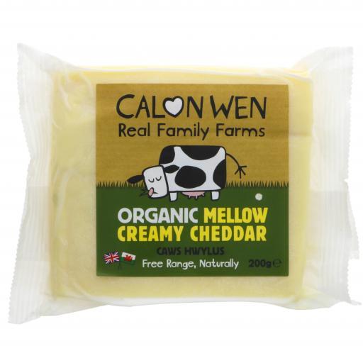 Organic Mellow Creamy Cheddar - 200G