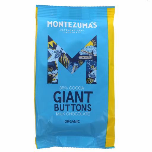 Organic Giant Buttons Milk chocolate - 180G