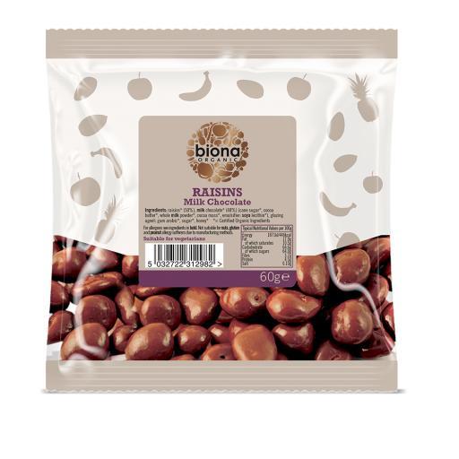 Organic Milk Chocolate Covered Raisins - 60G