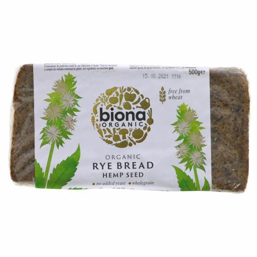 Organic Rye Bread Hemp Seed - 500G