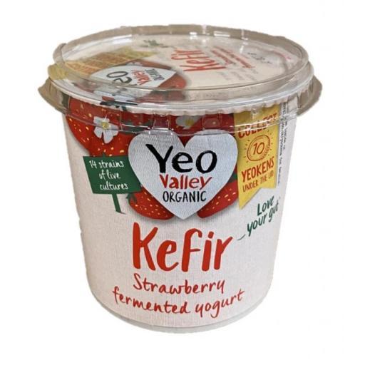 Organic Kefir Strawberry Yoghurt 350g